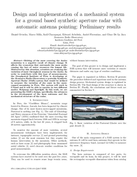 Design and implementation of a mechanical system for a
